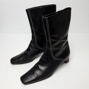 Cole Haan Heeled mid-calf Leather square toe boots